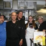 In the kitchen with the Chef, John, Corina and Perry